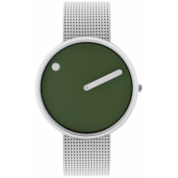 PICTO 40 MM FRESH OLIVE/CIRCULAR BRUSHED STEEL 43396-0820