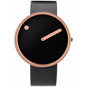 PICTO 40 MM BLACK/POLISHED ROSE GOLD 43312-4120R