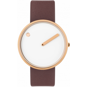 PICTO 40 MM WHITE/POLISHED ROSE GOLD 43383-6420R