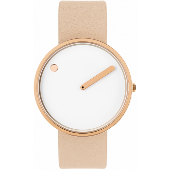 PICTO 40 MM WHITE/POLISHED ROSE GOLD 43383-6320R