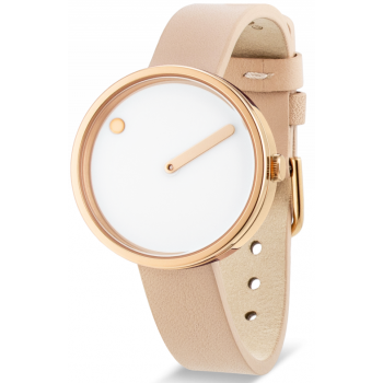 PICTO 30 MM WHITE/POLISHED ROSE GOLD 43381-6312R