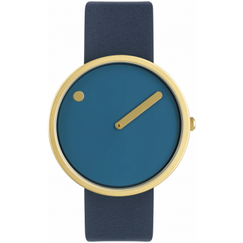 PICTO 40 MM DUSTY BLUE/MATT GOLD 43376-6720MG