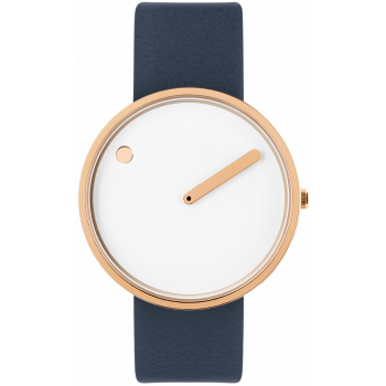 PICTO 40 MM WHITE/POLISHED ROSE GOLD 43383-6720R